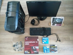 "Intel Core i7 4770K + 24"" ASUS VG248QE 144HZ 1MS + Nvidia Geforce GTX770"