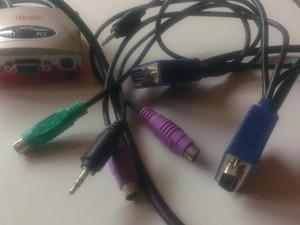Sweex KVM switch voor 2 pc's PS 2 TA000050