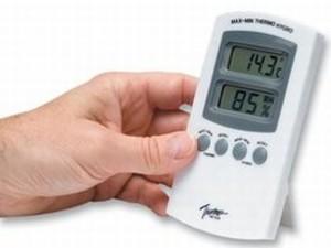 temperatuur en hygro meter