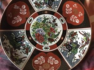 Chinees bord met stempel op achter zijde