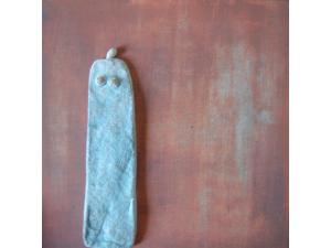 gecombineerd werk (keramiek/acryl op plaat - Linda Bouter