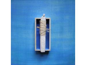 gecombineerd werk (keramiek/acryl/hout  op plaat) - Linda Bouter