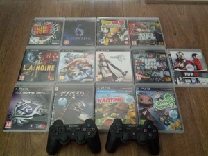 Sony PlayStation 3 Slim 120GB Zwart * 2 controllers * 16 games