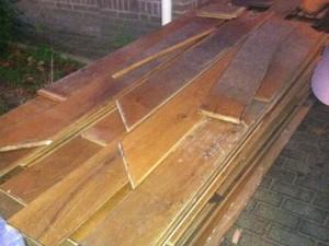 Eikenhouten vloer 90m2 (waterschade)