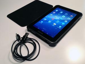 "Samsung Galaxy Tab 2 7"" WiFi 8GB + lederen beschermhoes"