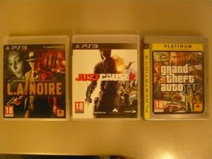 PS3 Games: L.A. Noire / GTA IV / Just Cause 2