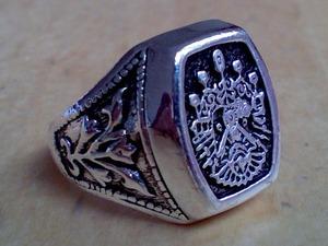 OSMANLI ring - ottoman osmanli tugra arma zegel padisah