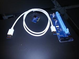 usb PCIe risers met 1m kabel. op voorraad