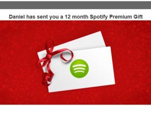 Spotify giftcard 12 maanden