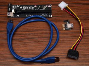 USB PCI-e riser kaarten