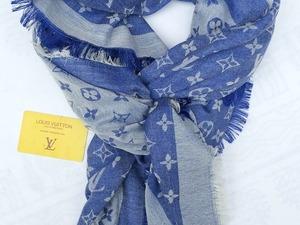 Louis Vuitton Sjaal/ Omslagdoek Blauw