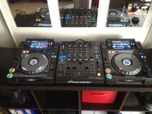 Pioneer CDJ 2000 Nexus + DJM 900 Nexus set + Flightcases