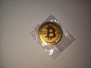 Casascius Bitcoin Munt uit 2011 krasloos SERIE 1 met Hologram