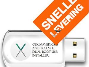 OSX Mavericks 10.9.5+OS X Yosemite 10.10.5 Installatie USB